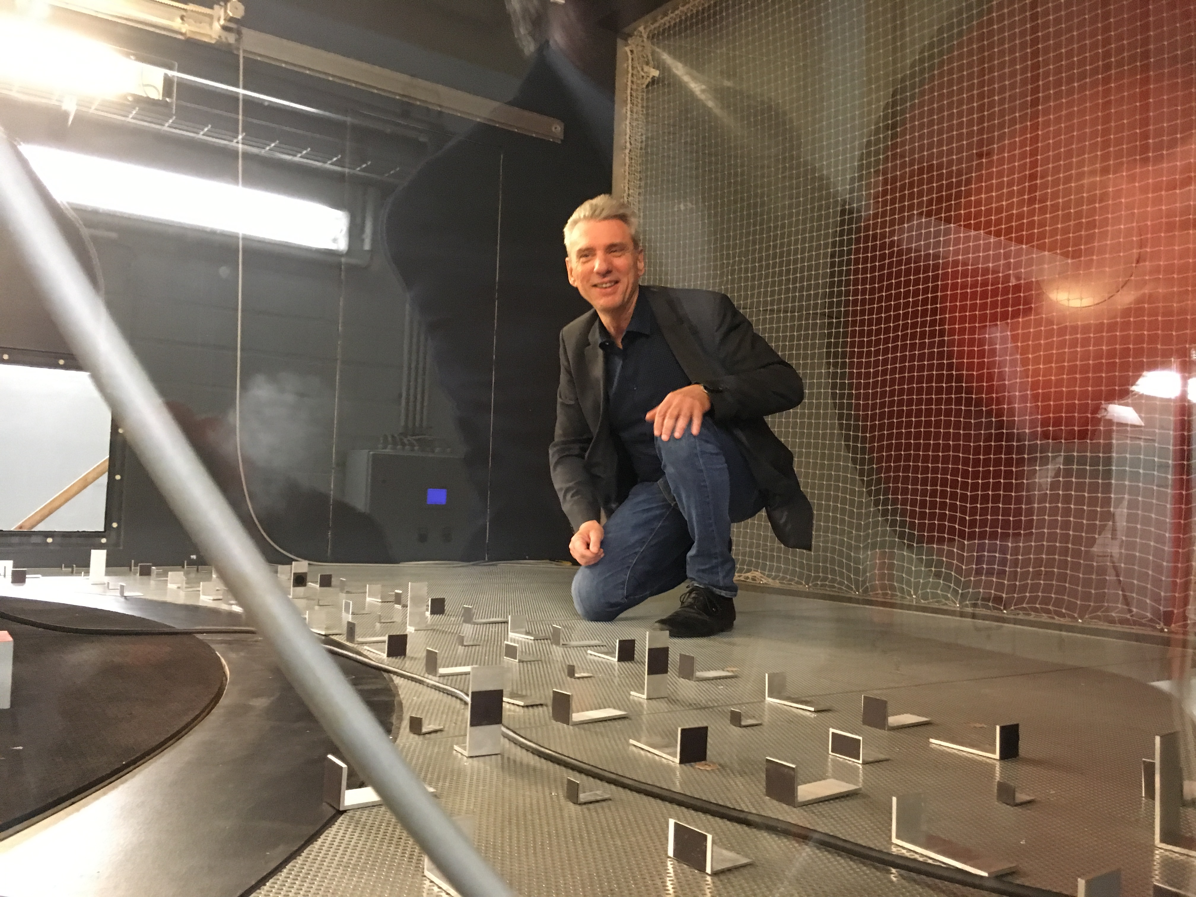 Dieter in wind tunnel